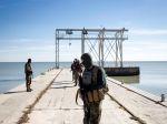Vertreter des Battaillion Asow beim Manöver am Asowschen Meer bei Mariupol (Florian Bachmeier)