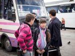Schwangere Krimtatarin auf dem Busbahnhof vor der Abfahrt von der Krim aufgrund der russischen Annexion (Florian Bachmeier)